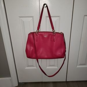 Coach Large Pink Christie carryall bag